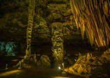 Flowstones w sławnym Cango Zawala się w Południowa Afryka Obraz Royalty Free