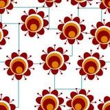 Flowwers vermelhos retros Ilustração Royalty Free