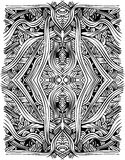 Flowypattern2. Reflected hand drawn abstract flow pattern Royalty Free Illustration