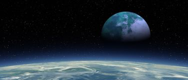 Flox - Moon Rising 02x4 Panavision royalty free stock images