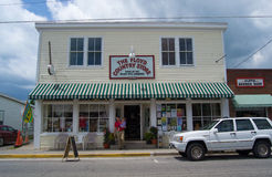 Floyd County Store - Floyd, Virginia, USA. Floyd, Virginia USA - May 19: The Floyd Country Store is renowned as a place to experience authentic Appalachian music stock photo