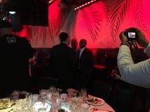 Floyd Mayweather au dîner d'auteurs de boxe Photographie stock libre de droits