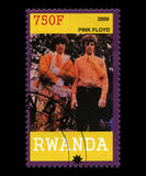 Floyd Postage Stamp rose du Rwanda Photo stock