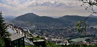 Floyen-view of Bergen Royalty Free Stock Image