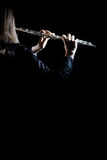 Flötennahaufnahme lokalisiert Stockfoto