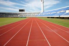 fältstadionspår Arkivfoton