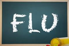A Flu against spilled pills Stock Photos