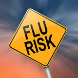 Flu alert concept. Illustration depicting a roadsign with a flu concept. Abstract  background Stock Images