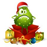 Flu Bug Christmas Present Royalty Free Stock Photos