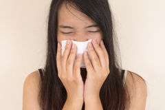 Flu cold , allergy symptom Royalty Free Stock Image