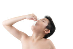 Flu cold or allergy symptom. Stock Photo