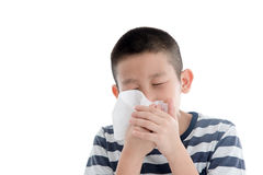 Flu cold or allergy symptom. Stock Image