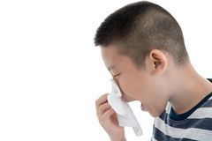 Flu cold or allergy symptom. Royalty Free Stock Photo