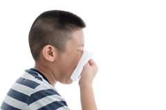Flu cold or allergy symptom. Stock Photos