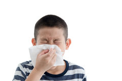 Flu cold or allergy symptom. Royalty Free Stock Photography