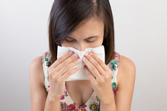 Flu cold or allergy symptom Royalty Free Stock Photos