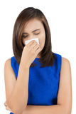 Flu cold or allergy symptom Stock Images
