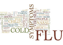 Flu And Cold In Children Text Background Word Cloud Concept Stock Image