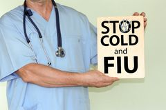 Flu and cold stop concept. photo royalty free stock photography