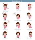 Flu common symptoms. Infographic element. Health concept Stock Photo