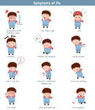 Flu common symptoms. Infographic element. Health concept Stock Image
