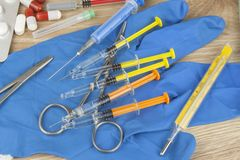 Flu epidemic. Vaccination against influenza epidemic. Royalty Free Stock Photo