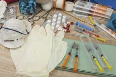 Flu epidemic. Vaccination against influenza epidemic. Royalty Free Stock Photography