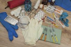 Flu epidemic. Vaccination against influenza epidemic. Royalty Free Stock Image