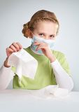 Flu epidemy Royalty Free Stock Photo