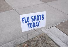 Flu Influenza Epidemic Vaccinations Today Stock Image