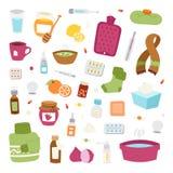 Flu influenza icons vector. Stock Photo