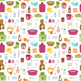 Flu influenza icons vector seamless pattern Royalty Free Stock Photo