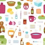Flu influenza seamless pattern vector. Stock Photos