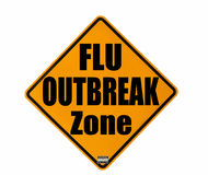 Flu outbreak warning Royalty Free Stock Images