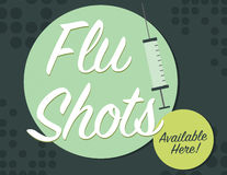 Flu poster Royalty Free Stock Image