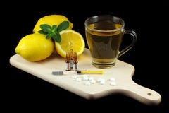 Flu remedies Royalty Free Stock Photo