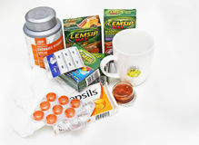 Flu season remedies Stock Photography