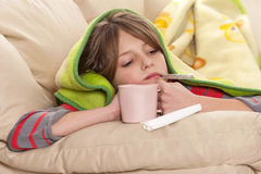 Flu Season. And sick child Royalty Free Stock Image