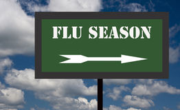 Flu season sign Stock Image