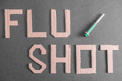 Flu shot background Royalty Free Stock Images