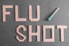 Flu shot background Royalty Free Stock Images
