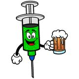 Flu Shot with Beer. A vector illustration of a Flu Shot with Beer Royalty Free Stock Photo