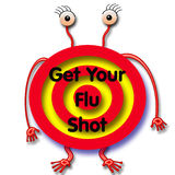 Flu shot humbug Royalty Free Stock Image