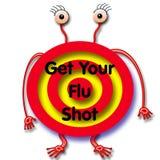 Flu shot humbug Royalty Free Stock Image