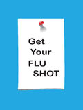 Flu shot memo 2 Stock Images