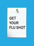 Flu shot memo3 Royalty Free Stock Photos