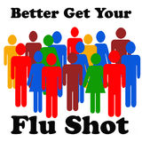 Flu shot reminder Royalty Free Stock Photo