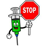 Flu Shot with Stop Sign Royalty Free Stock Images