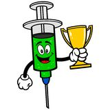 Flu Shot with Trophy Royalty Free Stock Photo