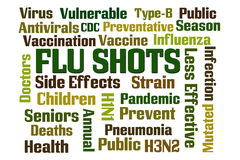 Flu Shots. Word cloud on white background Stock Images